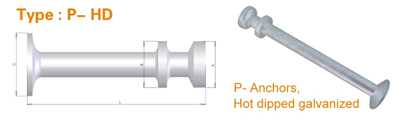 lifting anchors type P-HD - Hot Dipped Galvanised