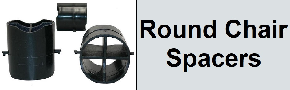 Round rebar chair spacers